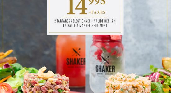 Lundis tartares | SHAKER St-Joseph – Cuisine & Mixologie