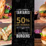 Lundis tartares & mardis burgers à 50% - SHAKER St-Joseph - Cuisine & Mixologie