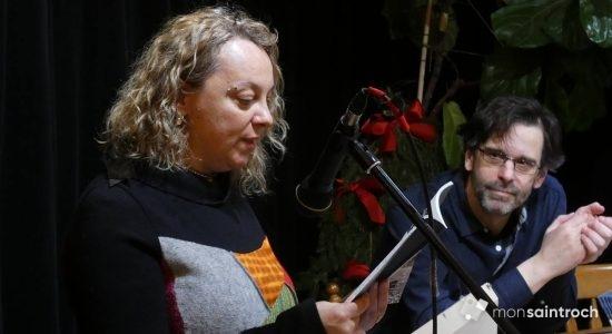«Entre les deux ce que j'ai choisi. L'air et le vent. Entre le cadre et le châssis. Je n'ai jamais eu d'entregent ». Judy Miller, invitée à faire la lecture de son texte Le cadre.