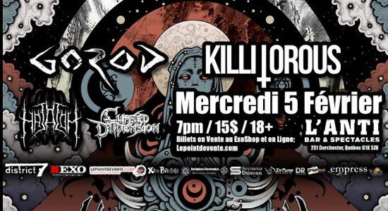 Gorod, Killitorous, Hatalom, Cursed Dimension