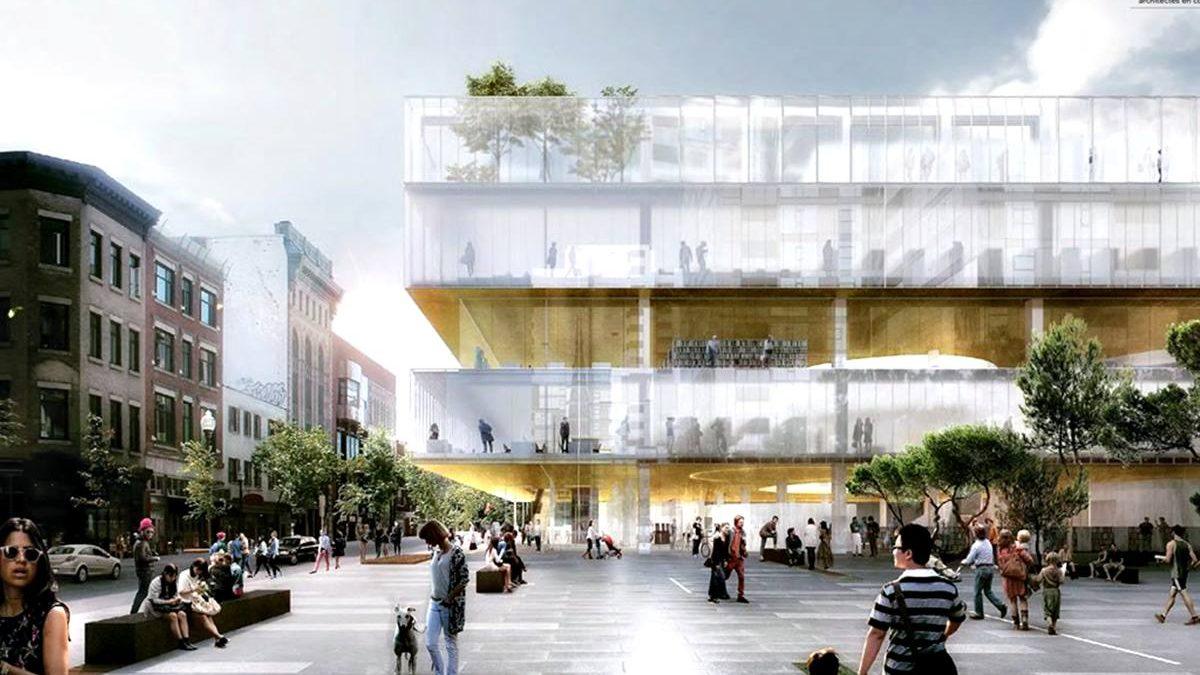 Nouvelle bibliothèque Gabrielle-Roy - rendu