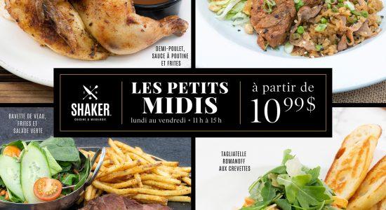 Les petits midis | SHAKER St-Joseph – Cuisine & Mixologie