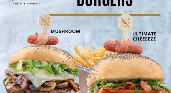 Nouveaux burgers | SHAKER St-Joseph – Cuisine & Mixologie