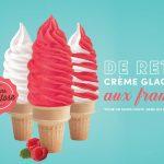 Crème glacée molle aux framboises - Chocolato