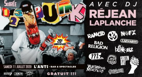 Soirée 123 Punk 20ième anniversaire avec DJ Rej Laplanche