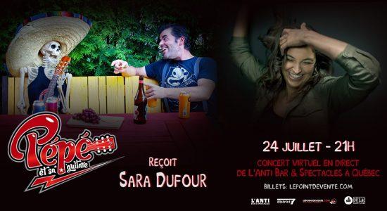 Pépé et sa guitare reçoit Sara Dufour -Concert virtuel en direct