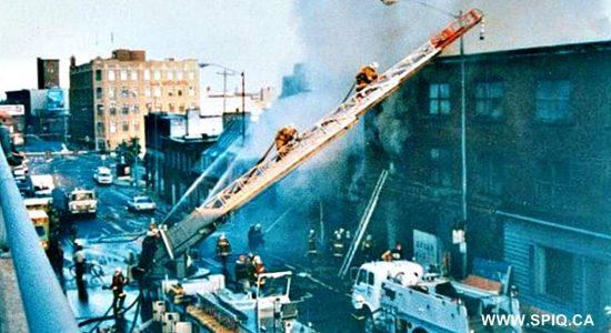 Saint-Roch dans les années 1990 (5) : incendie sur la côte d'Abraham - Jean Cazes