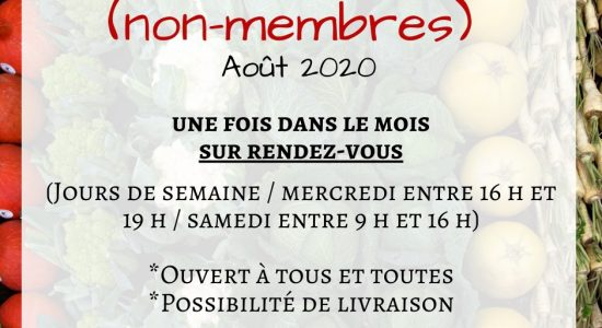 Offre alimentaire août