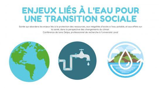 Enjeux liés à l'eau pour une transition sociale