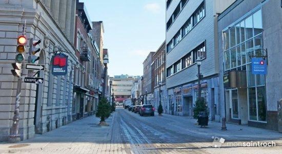 Une vue de la rue Saint-Joseph, en décembre dernier.
