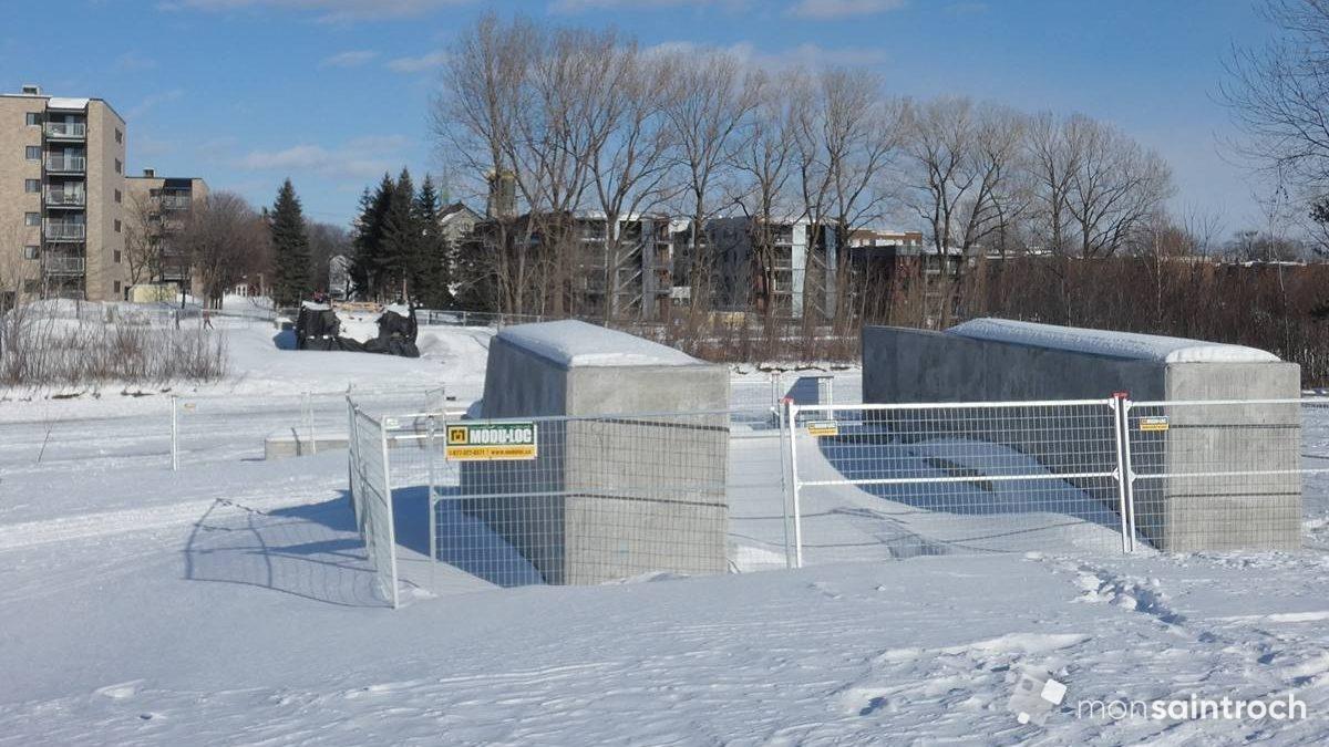 Site de la passerelle. 11 février 2021.