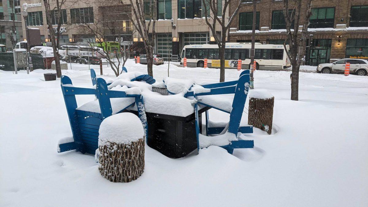 Réouverture de la halte-chaleur de la place de l'Université-du-Québec | 16 février 2021 | Article par Julie Rheaume