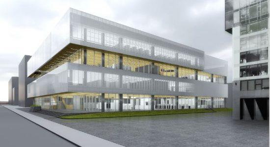 Le concept prévu pour la bibliothèque Gabrielle-Roy, tel qu'initialement présenté.