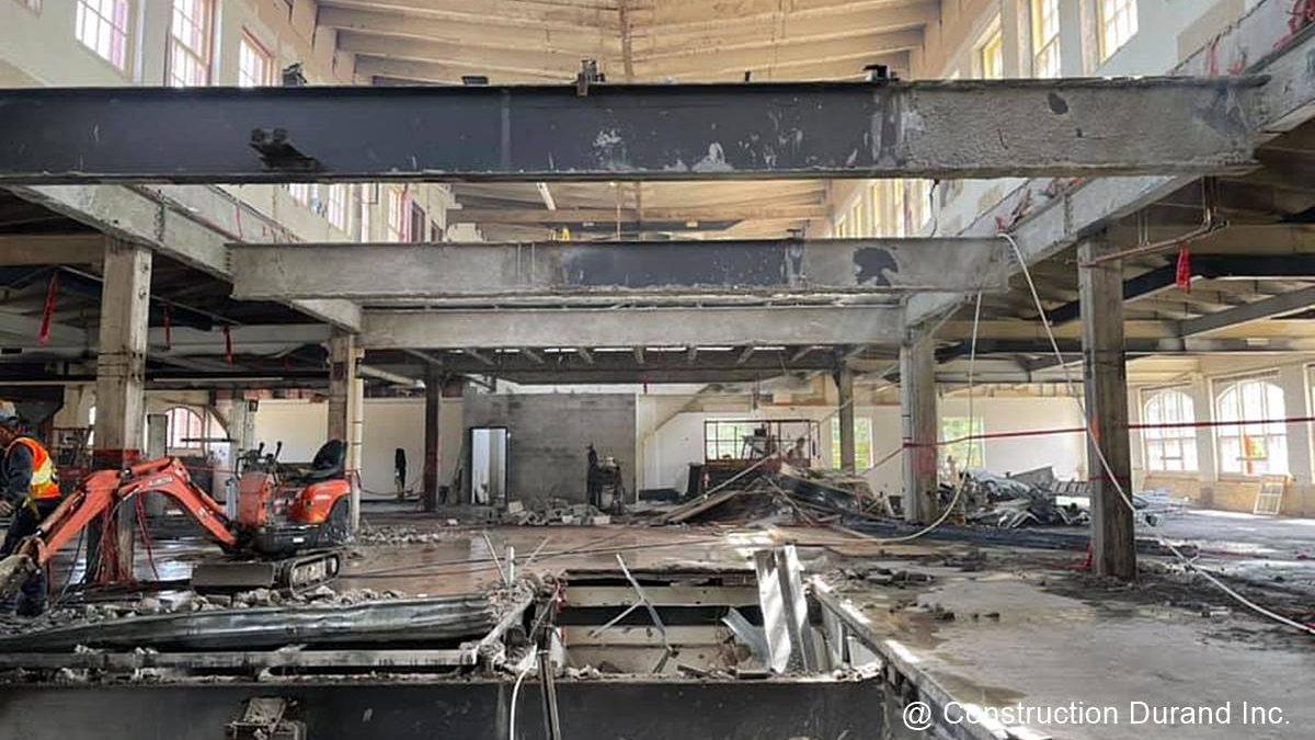 Chantier en cours : rénovation de l'immeuble F.-X. Drolet | 15 juin 2021 | Article par Jean Cazes