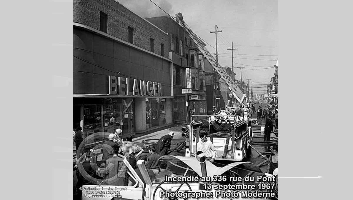 Saint-Roch dans les années 1960 (40) : les pompiers à l'œuvre sur la rue du Pont - Jean Cazes