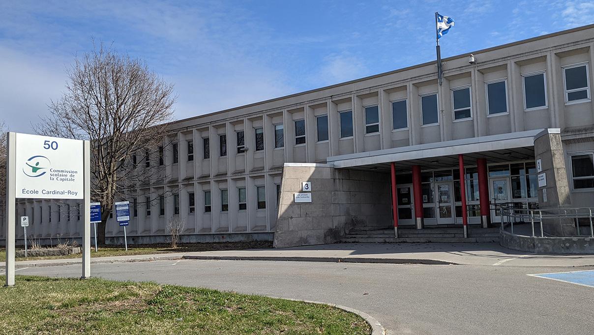 L'école Cardinal-Roy, en avril 2021.